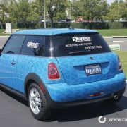 Vehicle wrapped in graphics