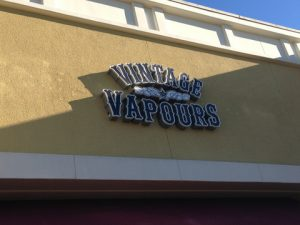 Vintage Vapours Building Sign