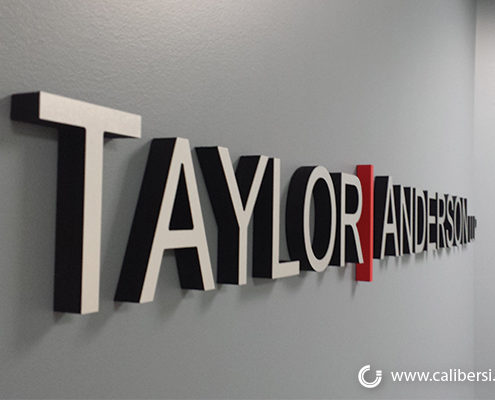 Taylor Anderson Lobby Sign