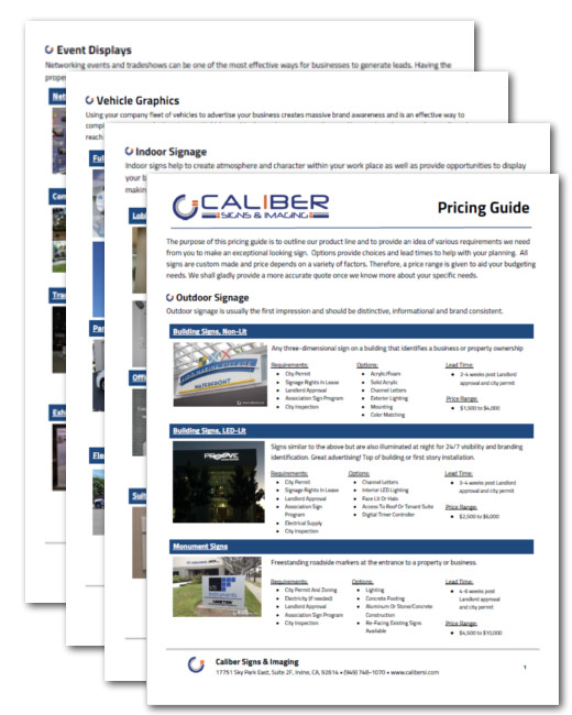 Price Guide Sample