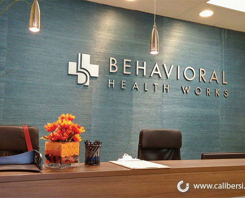 Behavioral Health Works Interior Lobby Sign Orange County - Caliber Signs & Imaging in Irvine Call: 949-748-1070