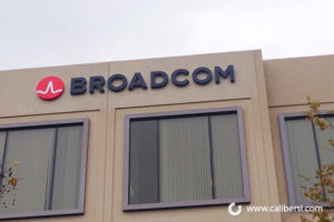 Broadcom Halo Lit Channel exterior signage orange county - Caliber Signs & Imaging in Irvine Call: 949-748-1070
