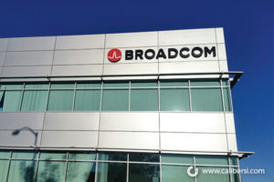 Broadcom Illuminated building Channel Sign Orange County - Caliber Signs & Imaging in Irvine Call: 949-748-1070