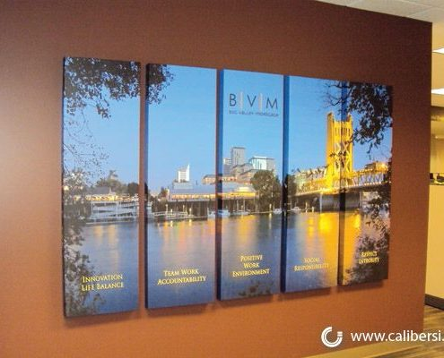 BVM Custom Canvas Prints for Reception halls Orange County - Caliber Signs & Imaging in Irvine Call: 949-748-1070