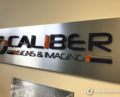 Caliber Signs & Imaging Lobby Sign Orange County - Irvine Call: 949-748-1070