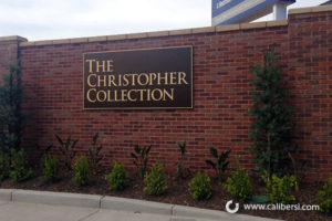 Christopher Collection Exterior Sign Plaque Orange County - Caliber Signs & Imaging in Irvine Call: 949-748-1070