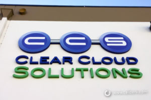 Clear Cloud Solutions building Foam Letters Orange County - Caliber Signs & Imaging in Irvine Call: 949-748-1070