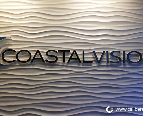 CoastalVision interior acrylic lobby sign Orange County - Caliber Signs & Imaging in Irvine Call: 949-748-1070