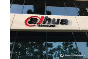 Dahua Technology Exterior Foam and plex letters orange county - Caliber Signs & Imaging in Irvine Call: 949-748-1070