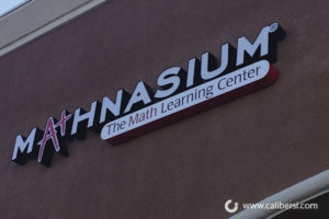 Mathnasium Exterior Building Channel Letters Orange County - Caliber Signs & Imaging in Irvine Call: 949-748-1070