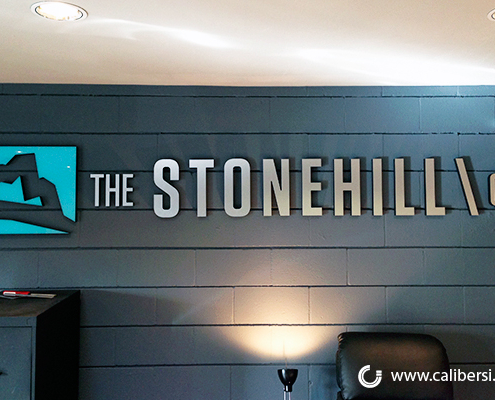 StoneHill Foam Brushed Silver Laminate Orange County - Caliber Signs & Imaging in Irvine Call: 949-748-1070