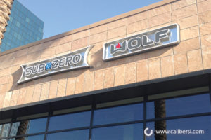 Sub Zero illuminated exterior building signs Orange County - Caliber Signs & Imaging in Irvine Call: 949-748-1070
