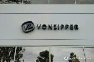 Vonzipper Exterior Foam building sign Orange County - Caliber Signs & Imaging in Irvine Call: 949-748-1070
