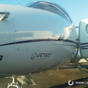 JetSet Airlines Jet cut out lettering orange county by Caliber Signs & Imaging in Irvine - Call 949-748-1070