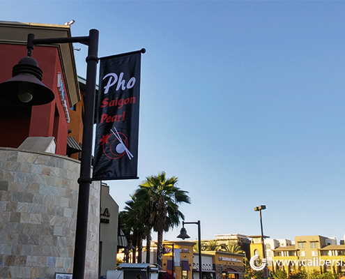 Pho Saigon Pearl Pole Banner - Orange County by Caliber Signs & Imaging in Irvine - Call 949-748-1070