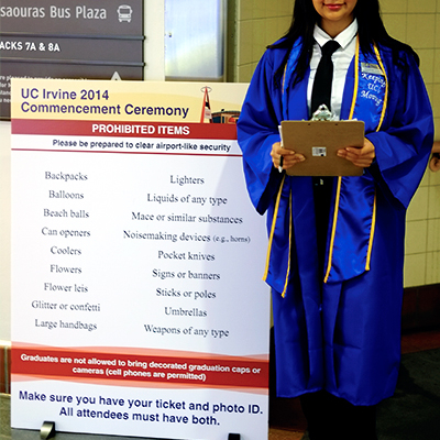 UCI Digitally Printed Standing Sign - Orange County by Caliber Signs & Imaging in Irvine 949-748-1070