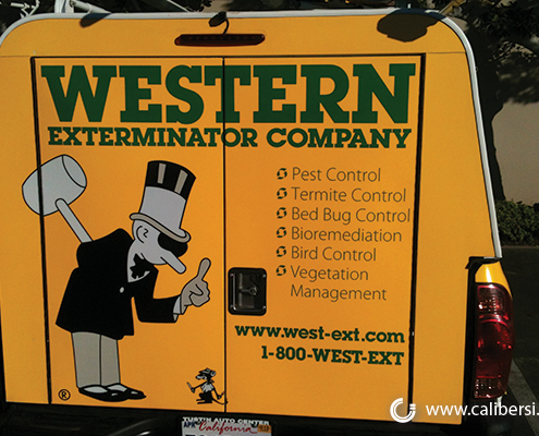 Western Exterminator Company Fleet Vinyl Rear Wrap Orange County - Caliber Signs & Imaging in Irvine Call 949-748-1070