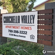 Coachella Valley Apartment Homes Monument Signs