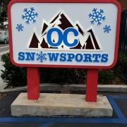 OC Snow Monument Sign