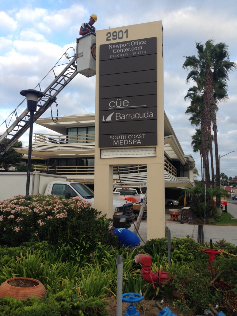 Pylon Sign Installation Newport Beach CA