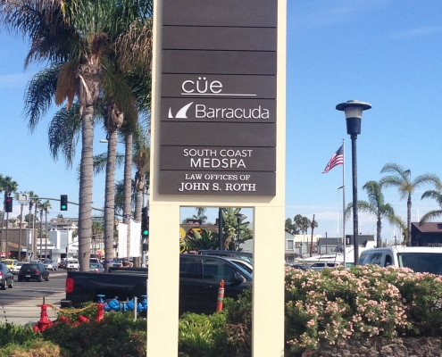 Tenant Pylon Sign for Executive Suites in Newport Beach CA