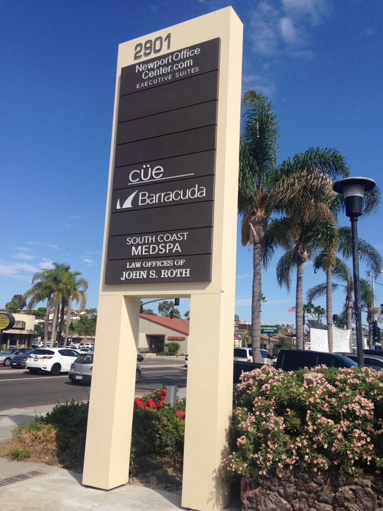 Tenant Pylon Sign in Newport Beach CA