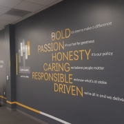 Core Value Statement Wall Graphics in Irvine CA