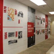 Historical Timeline Wall Murals in Irvine CA