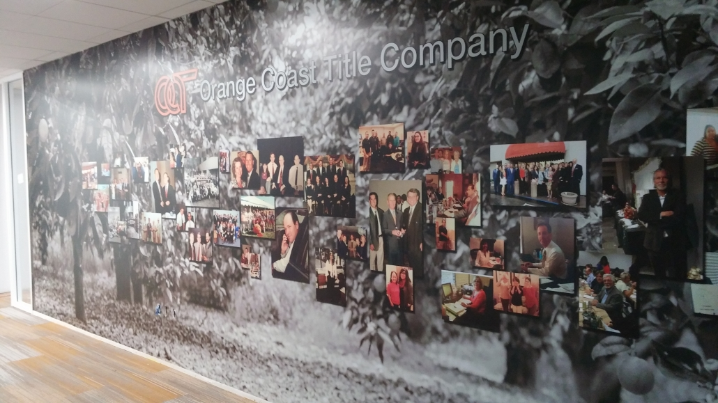 Vinyl wall murals with dimensional lettering