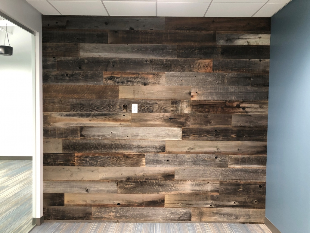FAux Wood Lobby Walls in Irvine CA