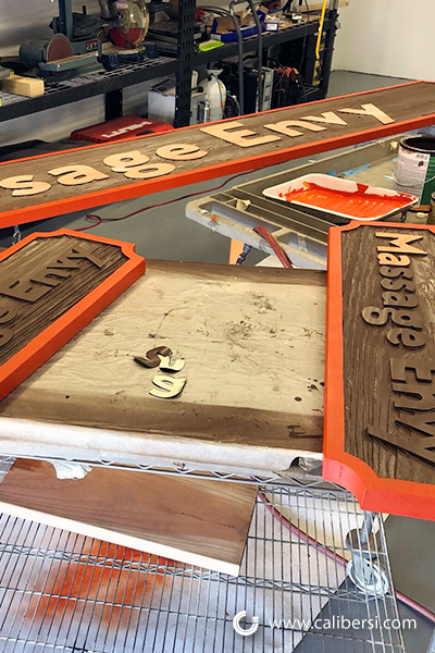 How are Sandblasted Signs Made in Orange County CA