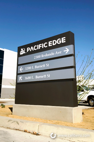 Tenant Panel Monument Signs in Long Beach CA