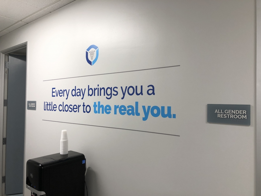 Branded Wall Lettering and Wall Logos in Orange County CA
