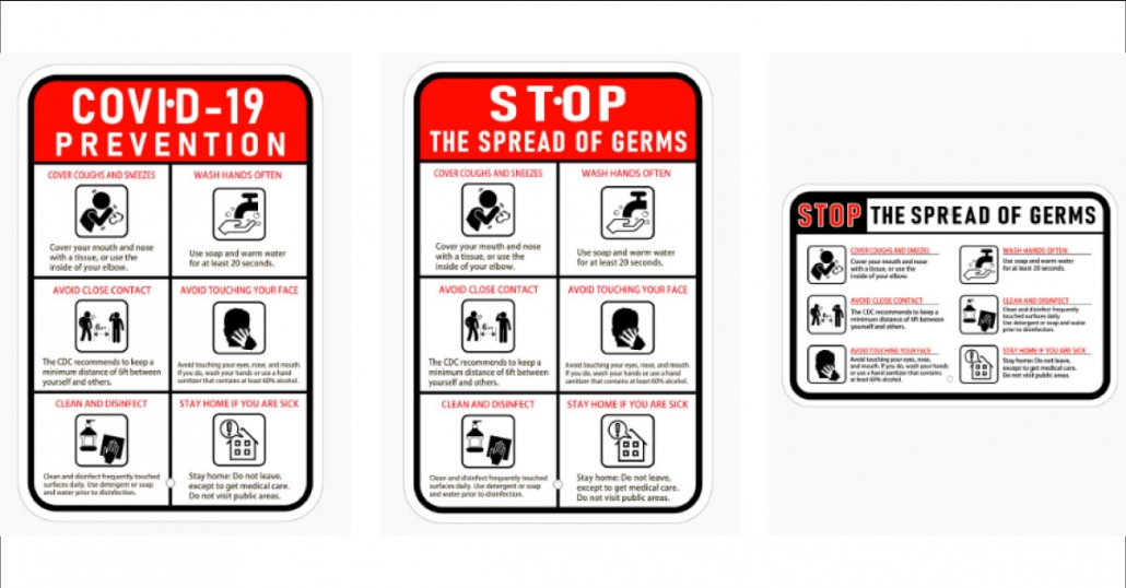 COVID 19 Safety Posters in Orange County CA