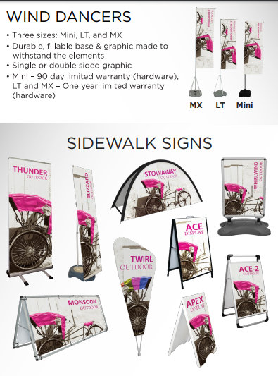 Feather Flags and Sidewalks Signs for Curbside Pickup in Orange County CA