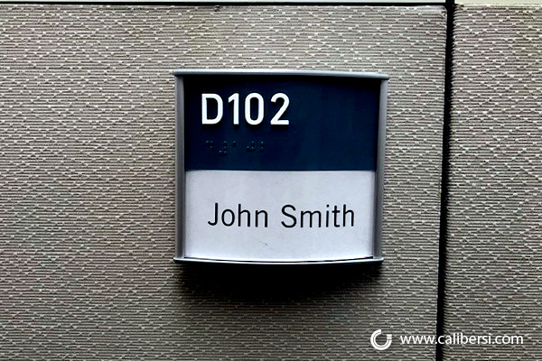 ADA Braille Name Plates for Cubicles in Orange County CA