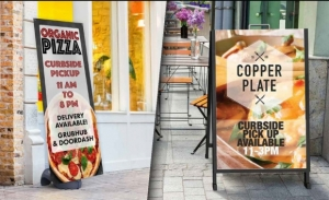 Covid 19 A Frame Signs For Curbside Pickup Areas