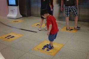Floor Decals for Elevators in Irvine CA