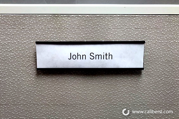 Office Cubicle Name Plates in Orange County CA