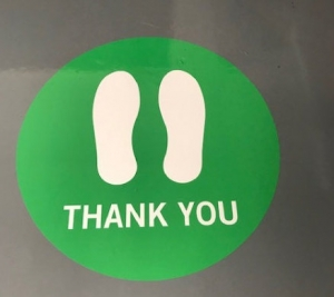 Thank you for social distancing floor decals in Orange County CA 1