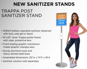 Hand Sanitizer Stands Trappa Post Caliber Signs and Imaging