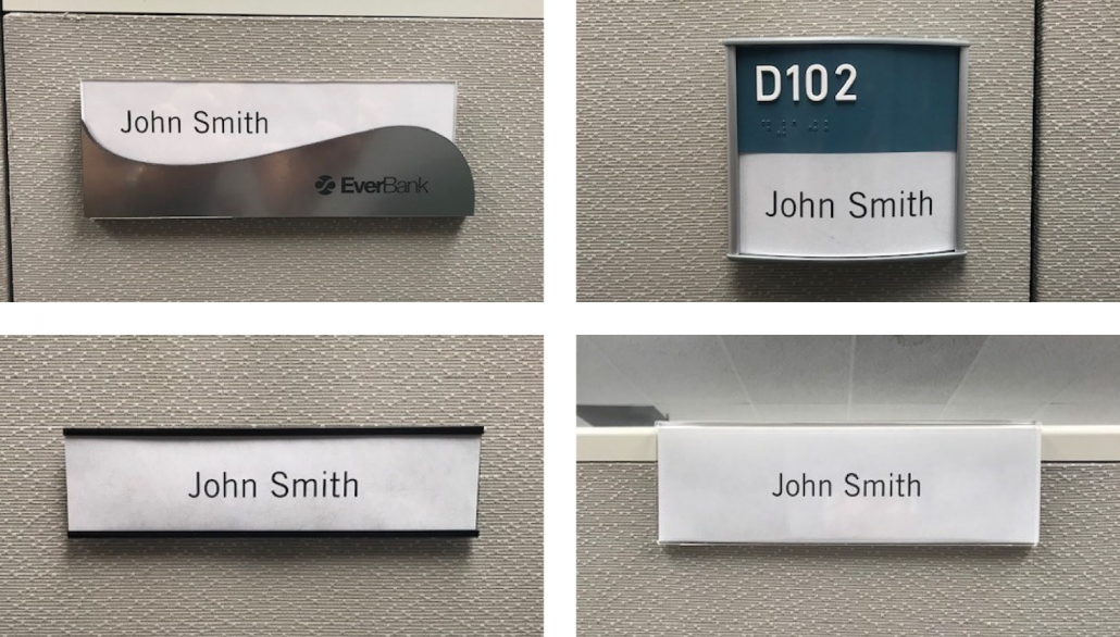 Office Cubicle Signs in Orange County CA