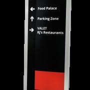 Caliber Signs Wayfinding Vista Expand Double Sided Pylon 1