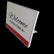 Caliber Signs Wayfinding Vista Sharp Table Stands 1