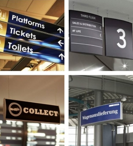 Caliber Signs Wayfinding Vista Suspended Signs