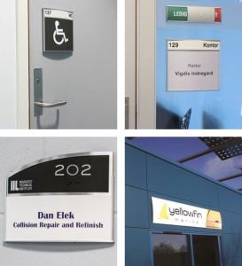 Caliber Signs Wayfinding Vista Wall Frames
