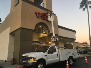 Caliber Signs and Imaging Installation Truck