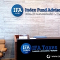 Lobby Sign IFA Taxes Irvine CA Caliber Signs and Imaging WEB