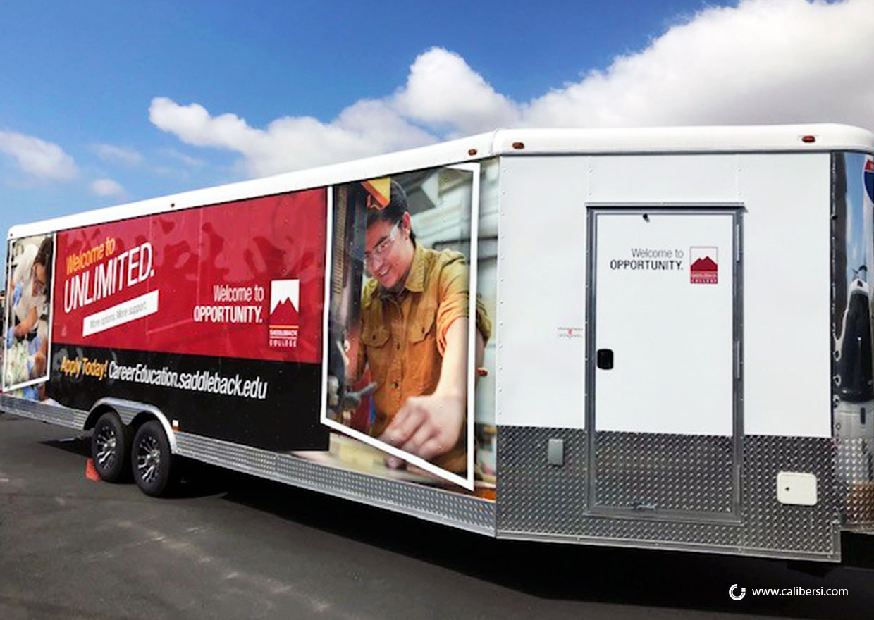 Trailer Graphics for Onsite Teaching in Orange County CA