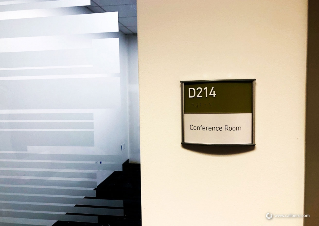 Vista Room ID and Suite Signs in Orange County CA